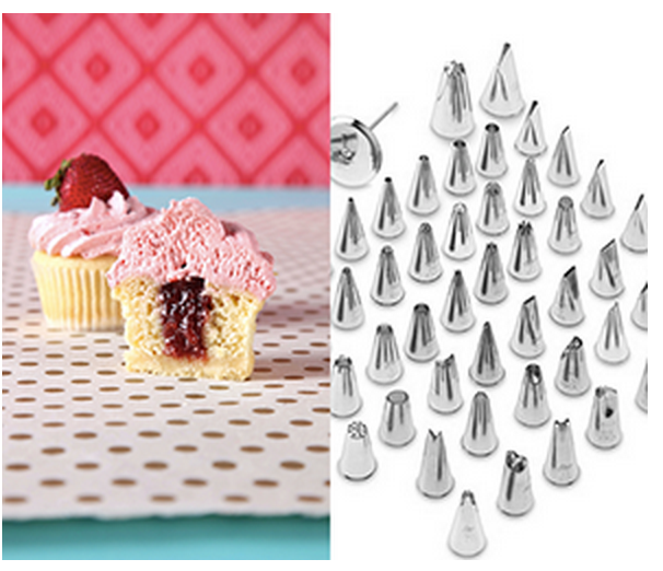 Perfect Cupcakes Course and 55piece Aetco Stainless Steel Decorating Set