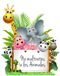 Cartel con mensaje 'No maltrates a los animales' para compartir