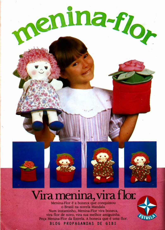 Propaganda da boneca 'Menina Flor' em 1988, da Estrela.