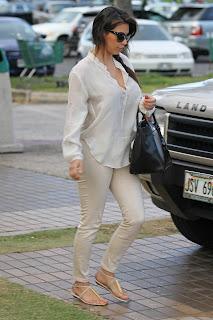 Kim Kardashian candids in Hawaii