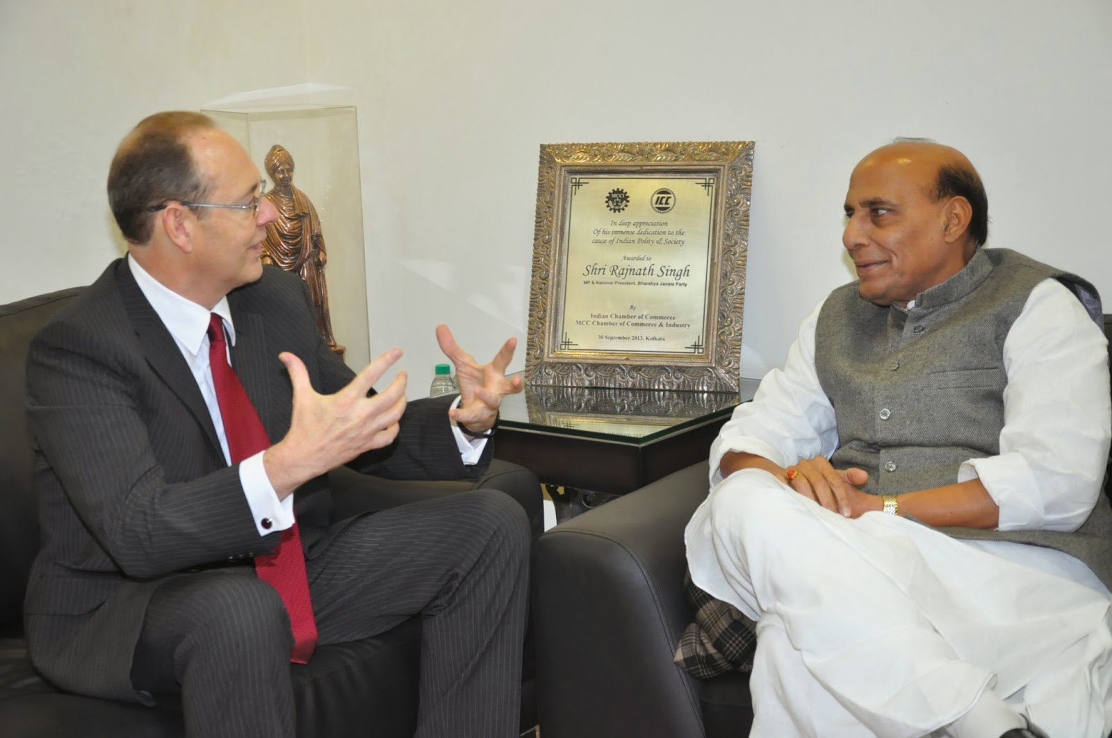 Rajnath Singh with British High Commissioner, Mr. James Bevan