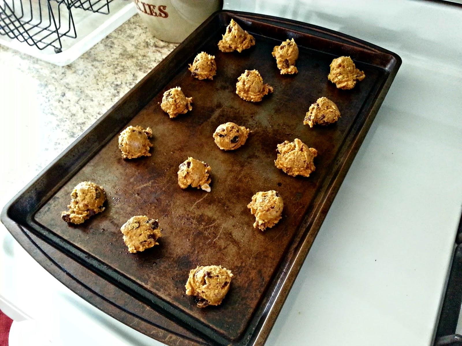Pumpkin-Oatmeal Chocolate Chip Raisin Cookies - A Healthy Version