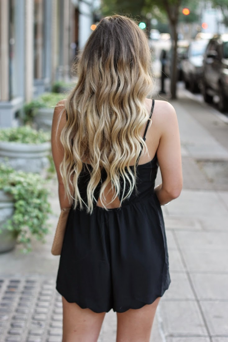 Back of Ombre Hair Color - Brunette Blonde Ombre Color
