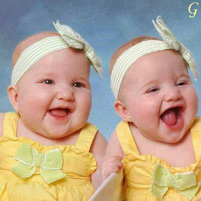 Babies-Twins-Smile-Cute-Kids Images