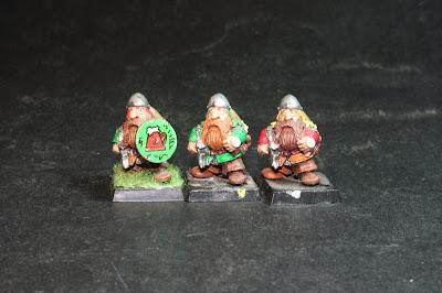 Primero de los cuatro modelos de los Bugman's Dwarf Rangers