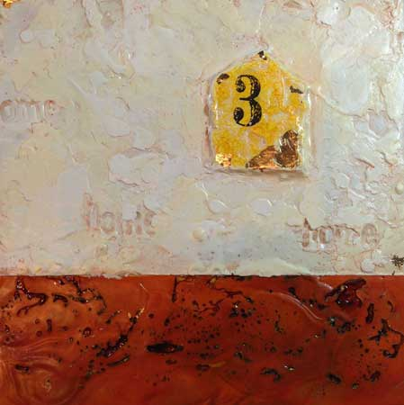 Lisa Meyer - Home Three - Encaustic
