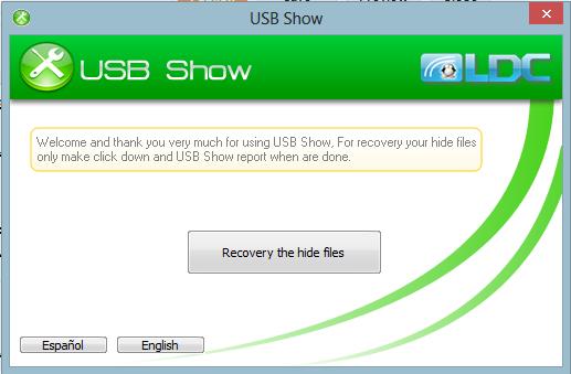 كيف تستعيد الملفات التي اختفت من USB بسبب الفيروسات Usb+show