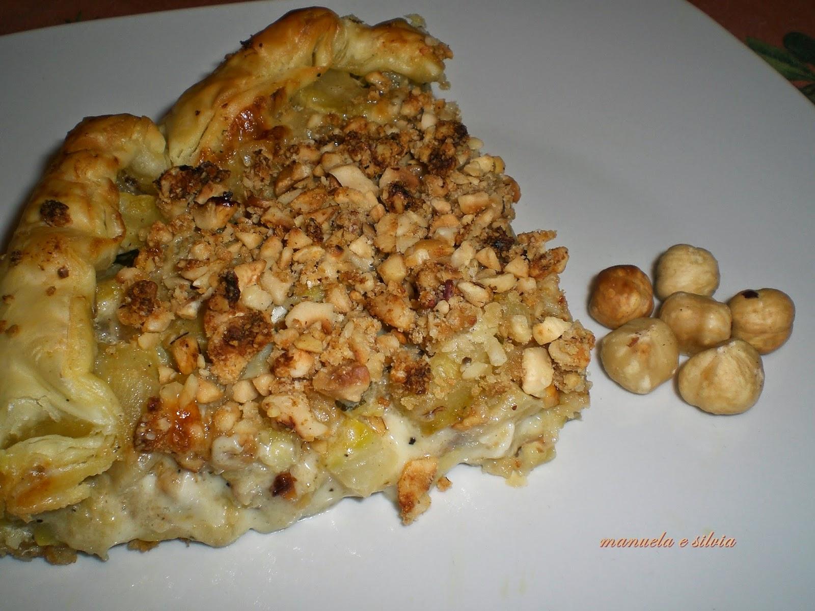 crostata alle zucchine e tartufo con crumble di nocciole
