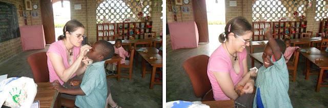 I bambini della scuola elementare togolese nella Missione