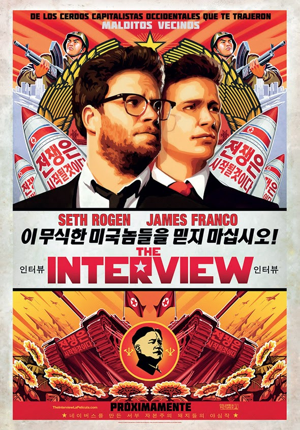 Póster en español de la película The Interview