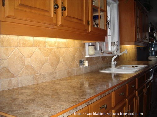 All about home decoration furniture kitchen backsplash for Kitchen designs with glass tile backsplash