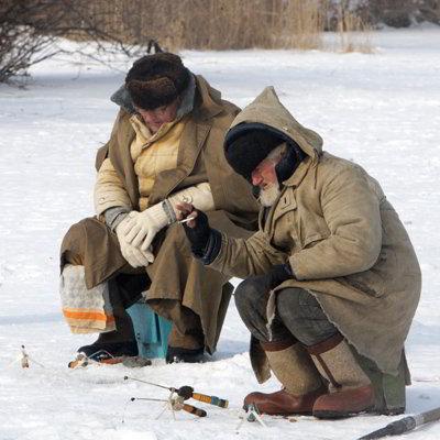 Фото Укринформ: зимняя рыбалка