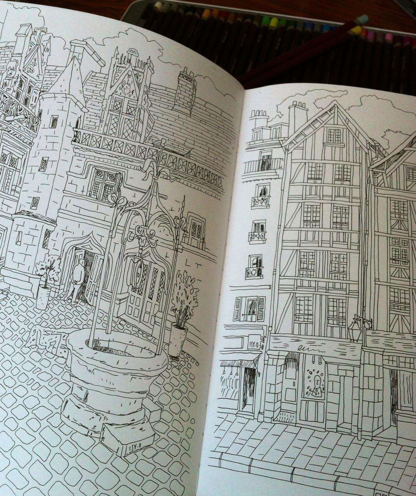 Quelques vues de Paris  colorier Arts&Décoration