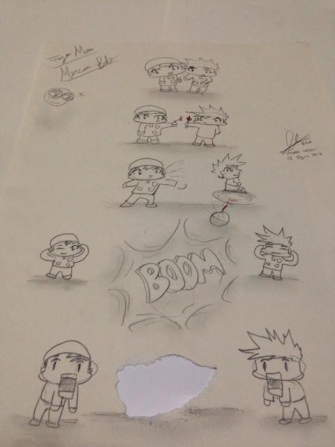 Anak-anak dan kertas lukis