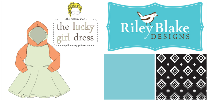 Giveaway: The Lucky Girl Dress Pattern from Lucy Blaire and Knit Fabric from Riley Blake Designs