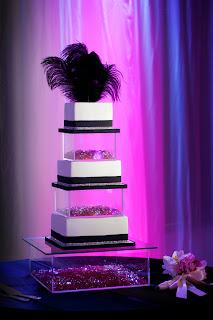 modern chic wedding cake