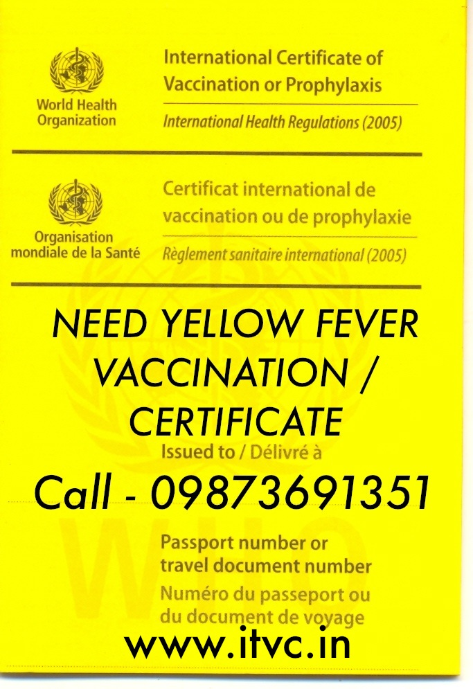Yellow Fever Vaccination Center In Delhi Yellow Fever Card