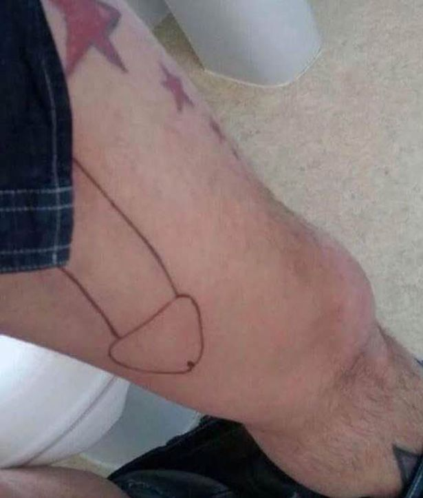 Father whose drunken leg tattoo cost him his wife is offered a ...