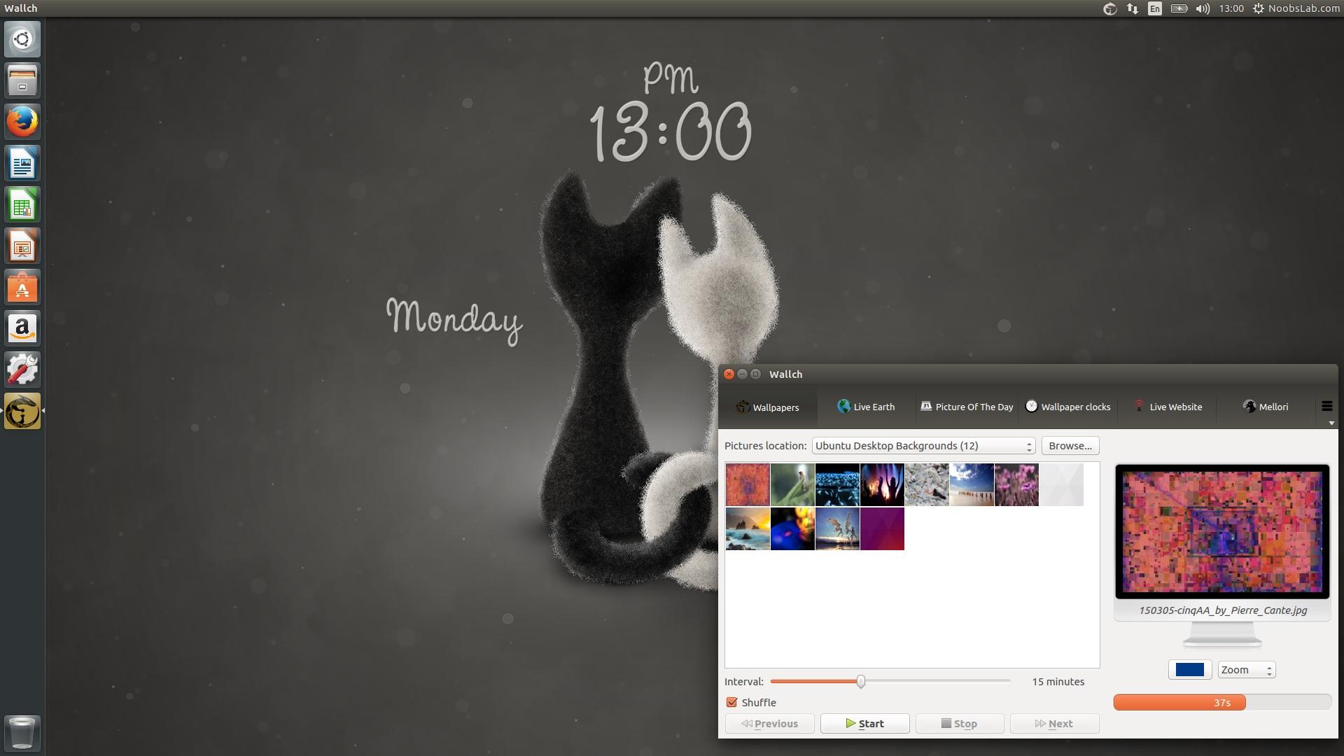 wallch 4 x offers live clock wallpaper u0026 web install in ubuntu