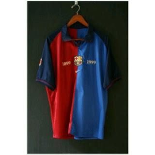 tempat jual jersey retro barcelona dll Jersey Barcelona Retri Centenary musim 1989/1999 di enkosa sport