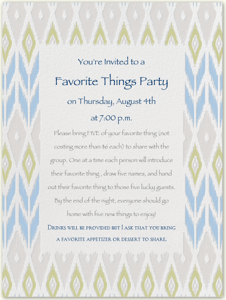 How-to: Host a Favorite Things Party
