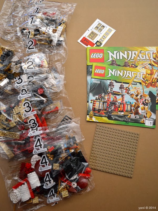 lego ninjago temple of light - contents of the box
