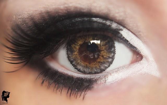 Wylona Hayashi Makeup Tutorial, I.Fairy Moe Moe Grey colored contacts