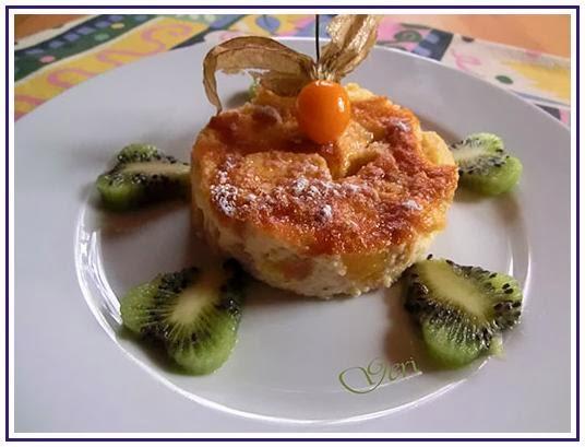 Clafoutis mit Apfel und Mango
