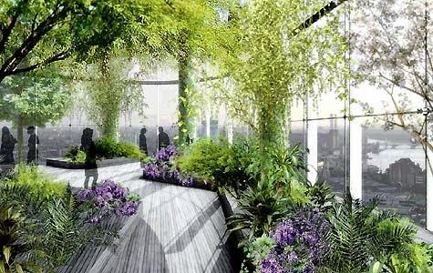 Được thiết kế với kiến trúc sinh thái phía trên các căn hộ chung cư Royal City là hệ thống những khu vườn sinh thái nhiệt đới