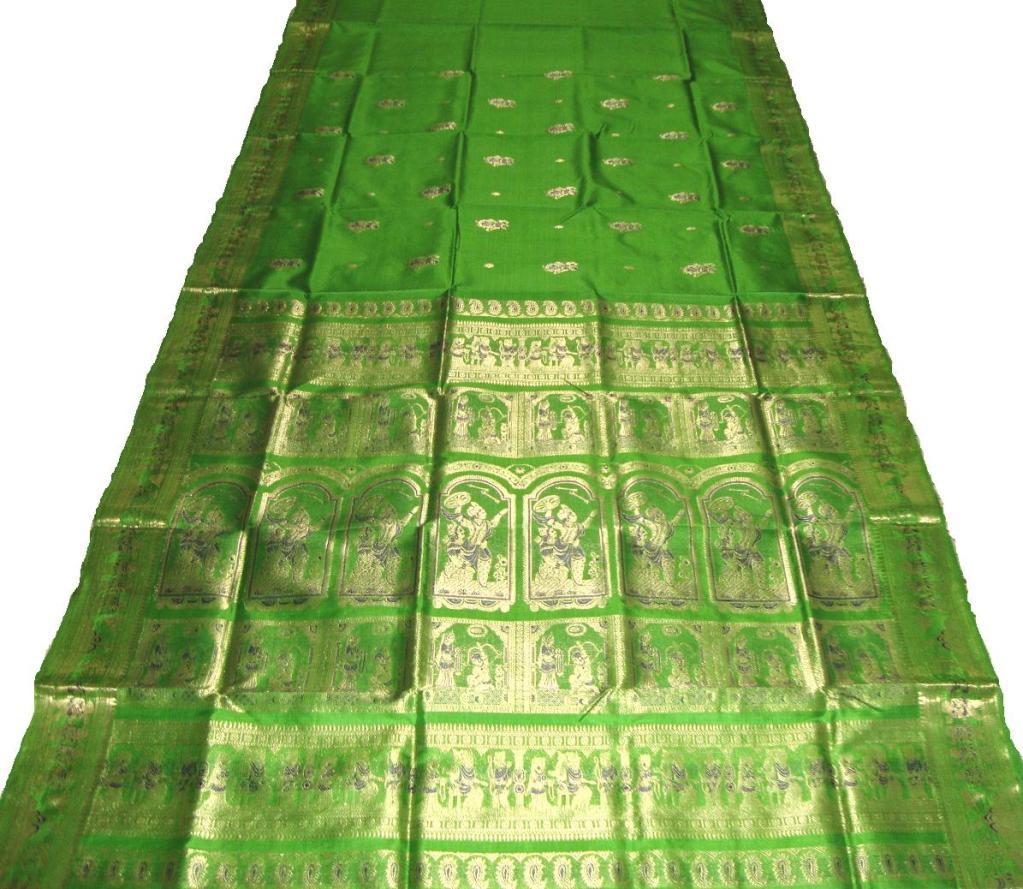 Bengali Silk Baluchari Saree Mahabharat Krishna Arjun