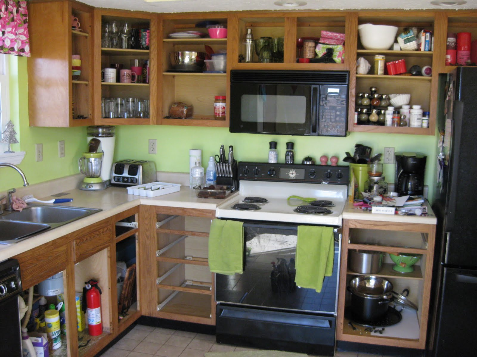 Kitchen Cabinets With No Doors
