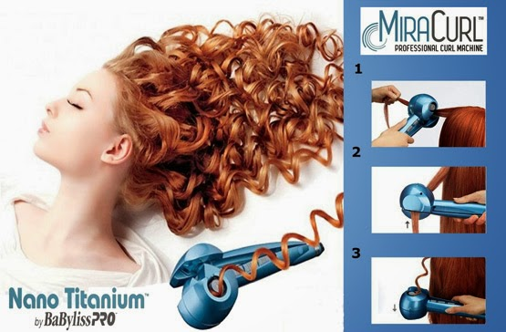 modelador de cachos MiraCurl Babyliss Pro Nano Titanium como utilizar no cabelo