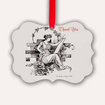 Writers Thank You Picture Ornament