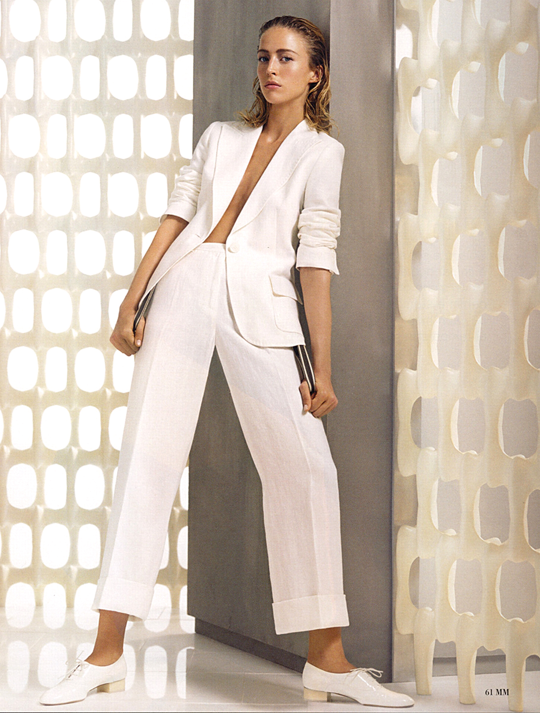 Max Mara Spring 2006 campaign  | how to wear white suit outfit ideas
