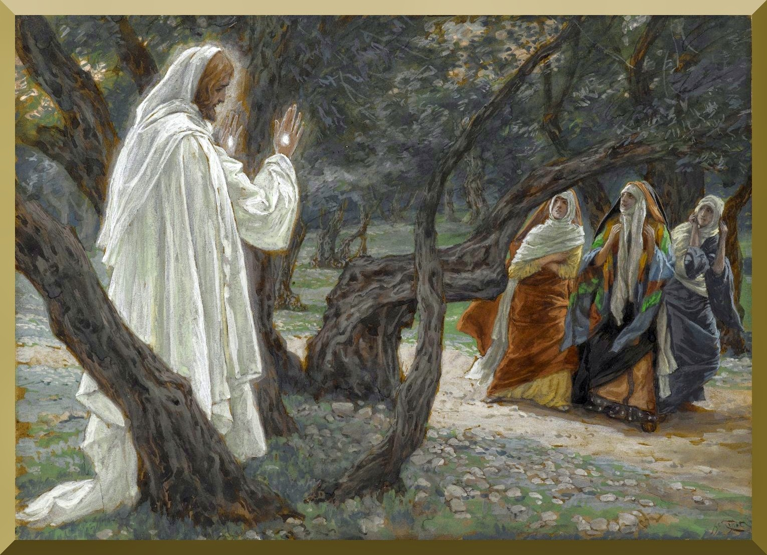 """Jesus Appears to the Holy Women"" -- by James Tisot"