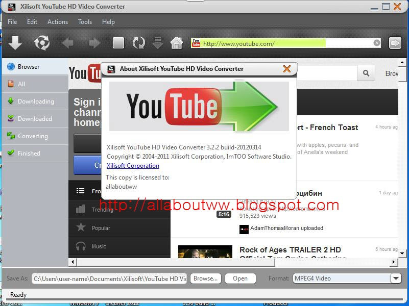 xilisoft youtube video converter license code