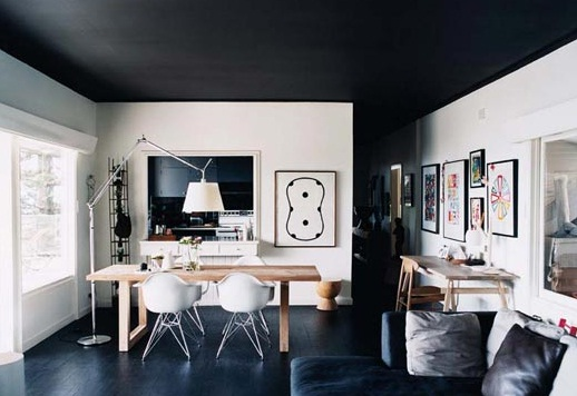Home Design Black Roof And Floor A Perfect Color Idea