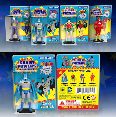 DC Comics Super Powers Micro Figures Series 1 by Gentle Giant - Batman, Robin, The Joker & The Flash