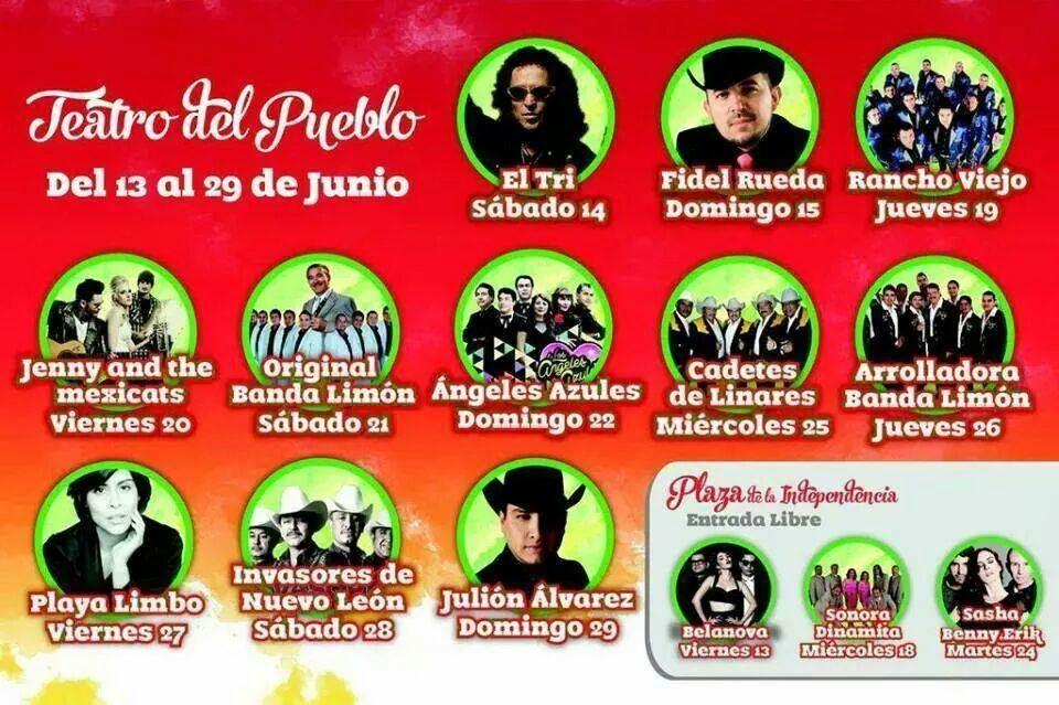 Artistas Feria San Juan del Río 2014