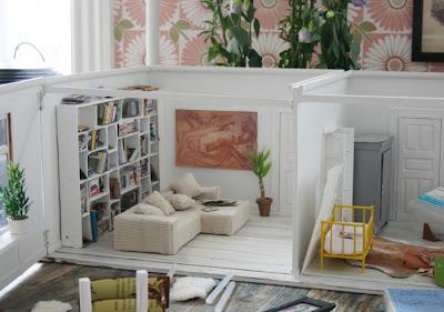 szedzki domek dla lalek, dolls house, pokój dla dziewczynki, ikea, miniaturowy dom