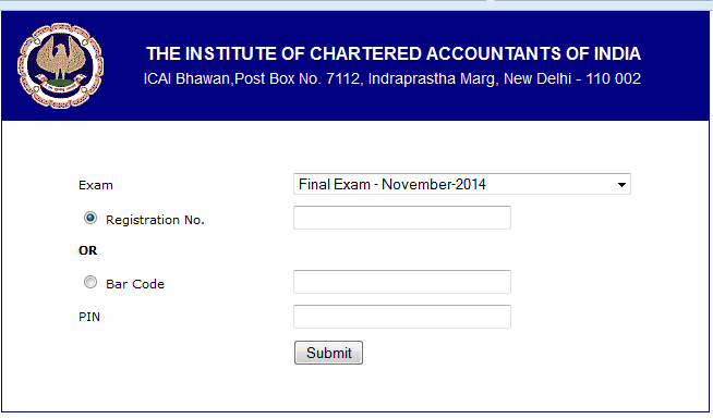 Download ICAI Final/IPC Admit Card Nov 2014 Now