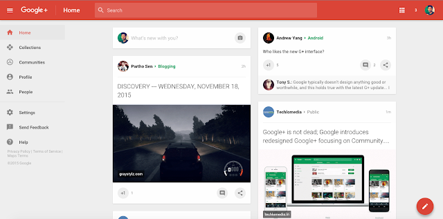 How to get new design on Google+