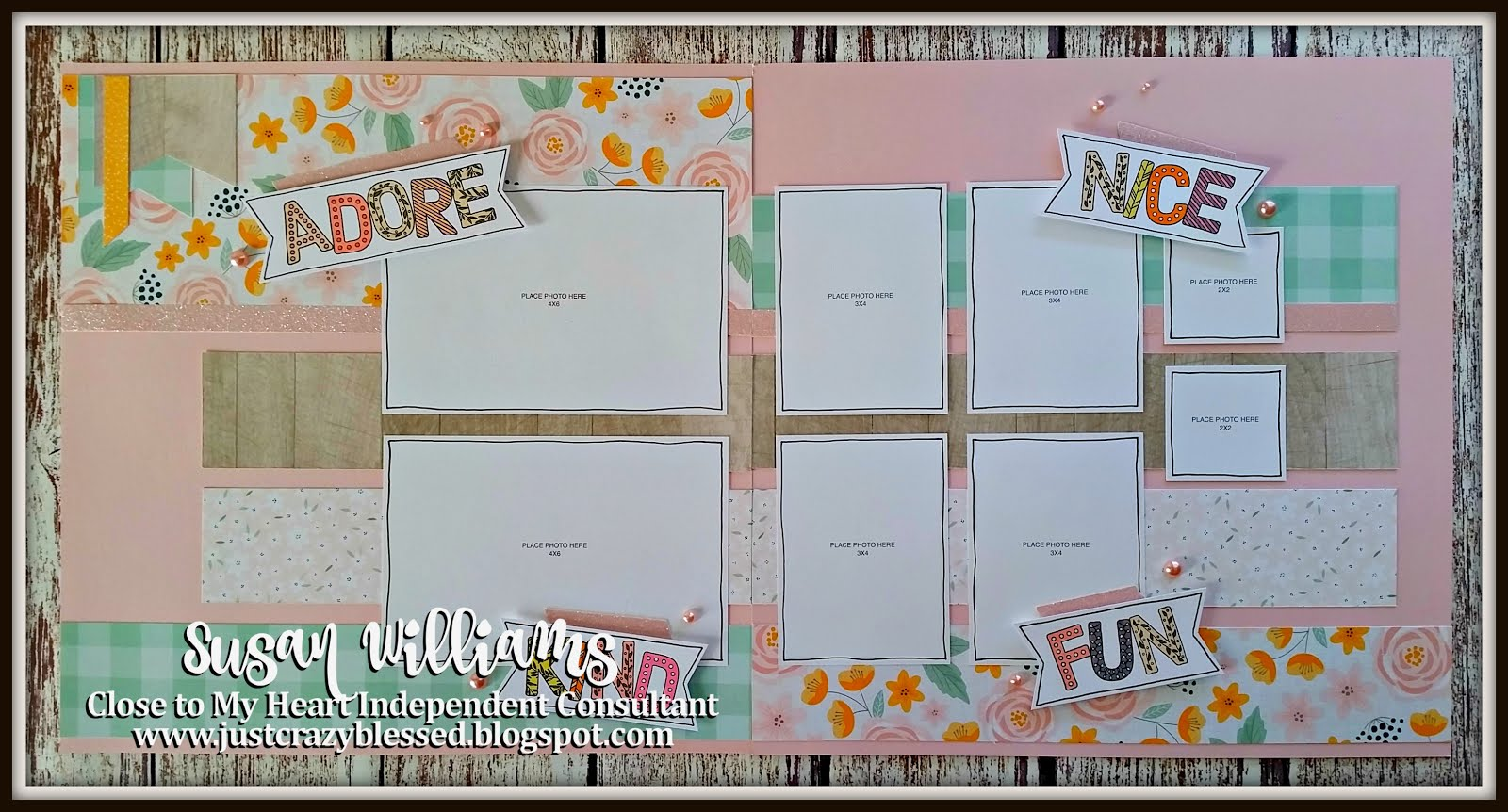 April Stamp of the Month Layout Workshop!