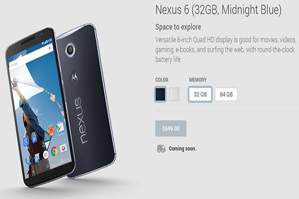 Pre Order Phablet Nexus 6 Dibuka Tanggal 29 Oktober