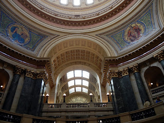 Inside the State Capitol building in Madison, Wisconsin
