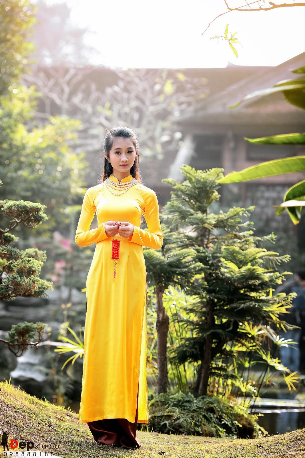 Ảnh đẹp girl xinh Áo dài truyền thống Việt Nam - Ảnh 20