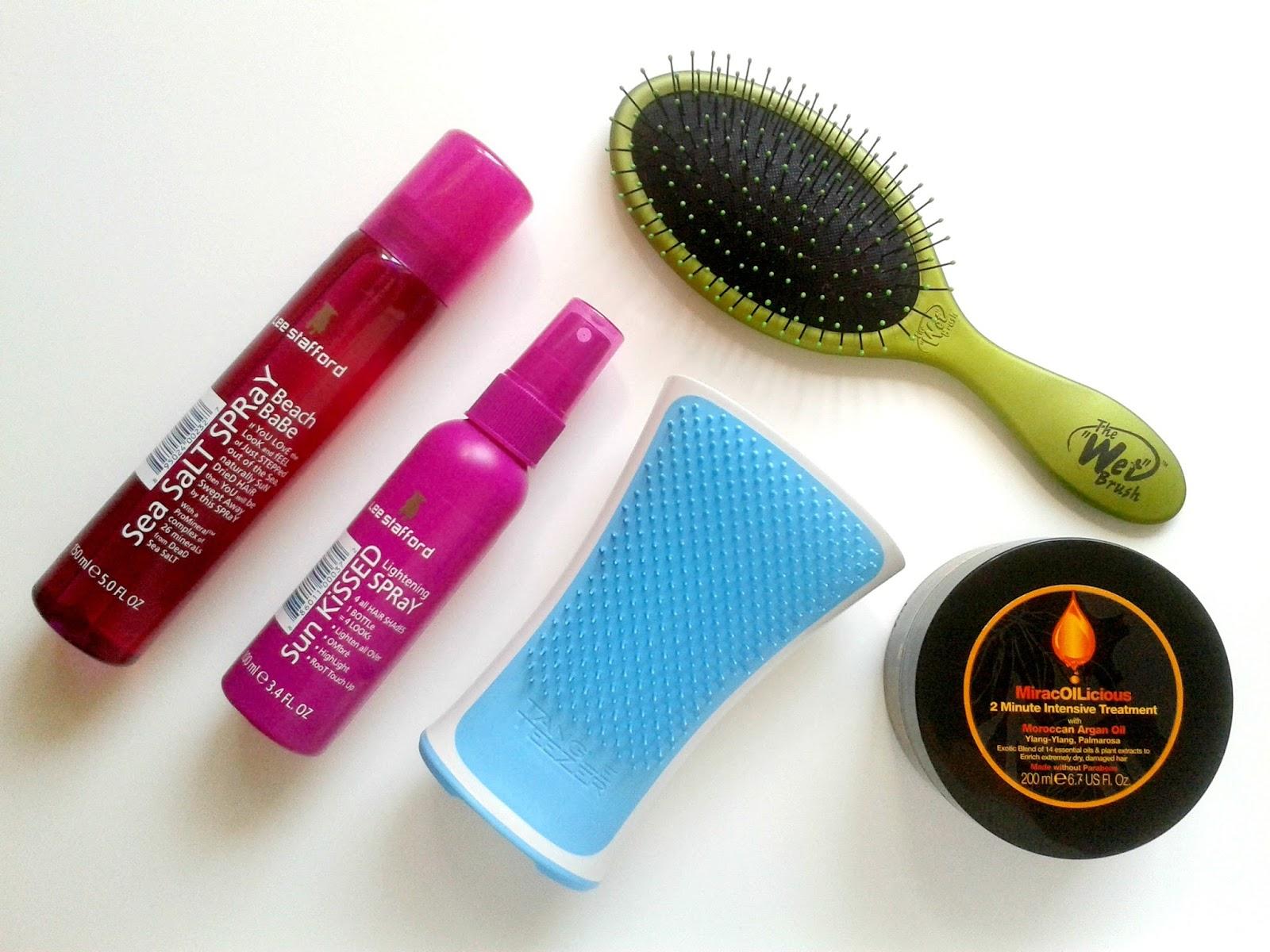 Ellis Tuesday's Summer Sun-Days: Hair Beauty Review The Wet Brush Tangle Teezer Aqua Splash Lee Stafford Mark Hill