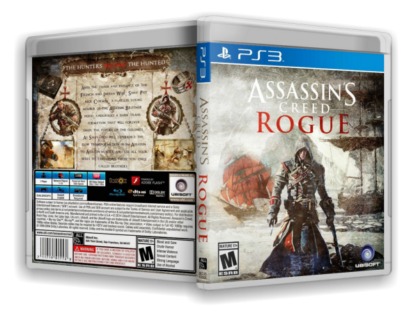 Capa Assassins Creed Rogue PS3