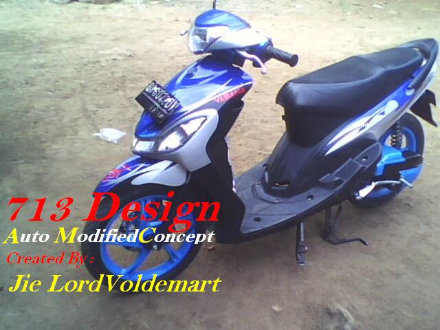 ide modifikasi motor mio sporty warna biru