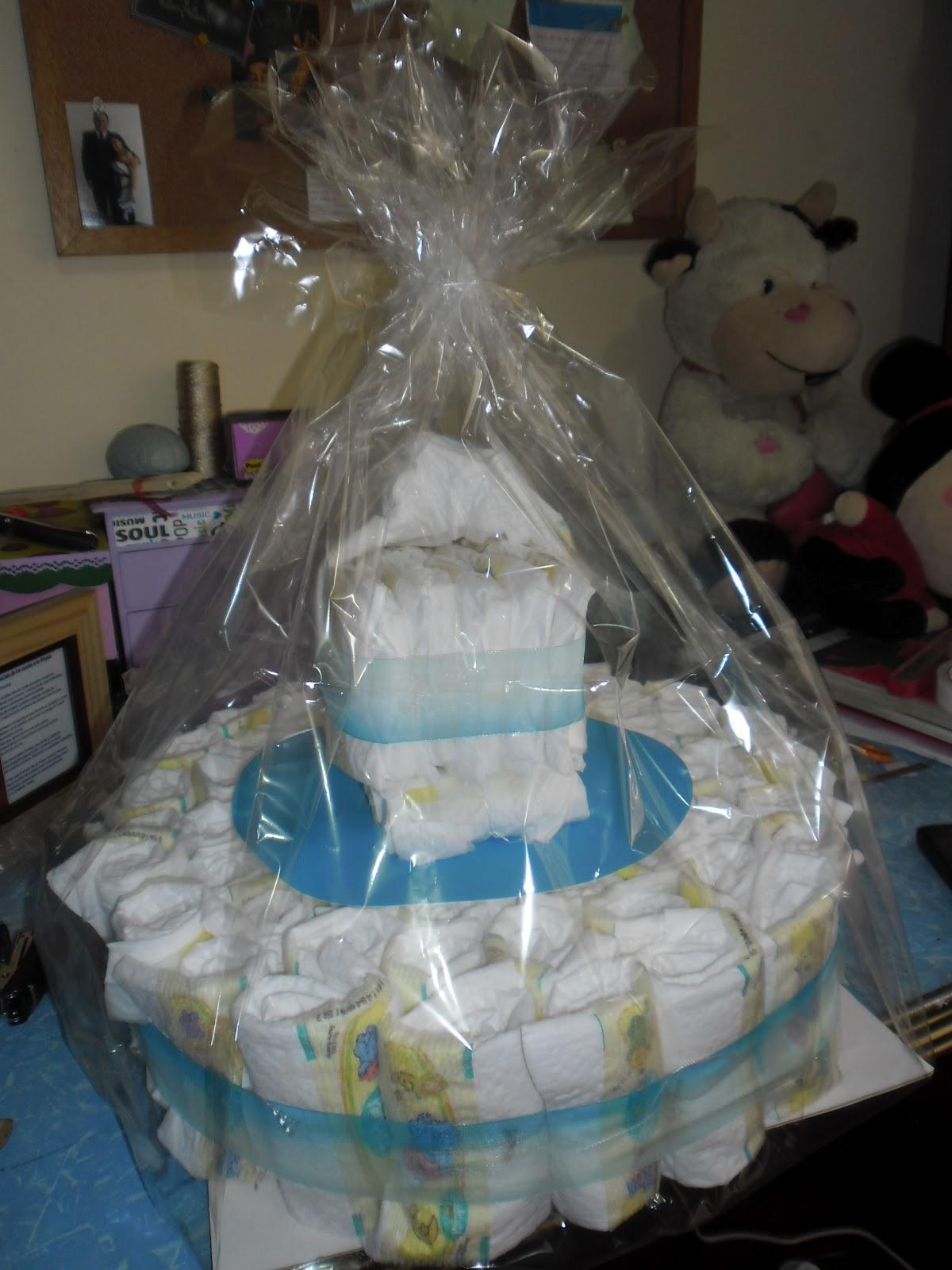 Torta De Pa  Ales Para Baby Shower